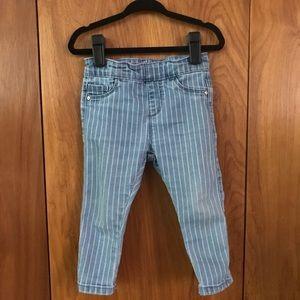 Zara || Baby Railroad Stripe Stretch Denim Jeans